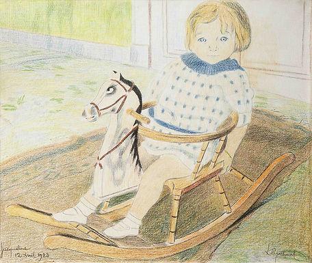 Spilliaert Léon - Kindje op een Schommelpaard
