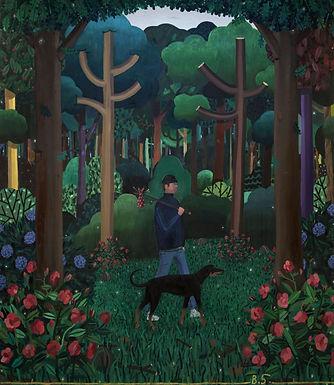 Sledsens Ben - Wanderer with Dog