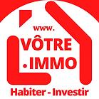 Vpimmo Logo 0415 rouge fond  blanc arron