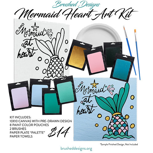 Mermaid Heart Art Kit