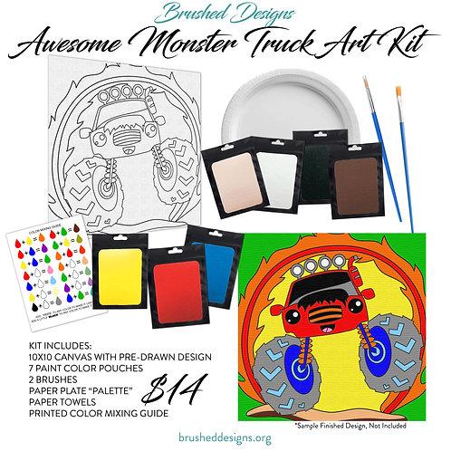 Awesome Monster Truck Art Kit