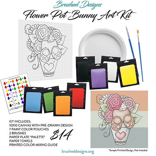 Flower Pot Bunny Art Kit