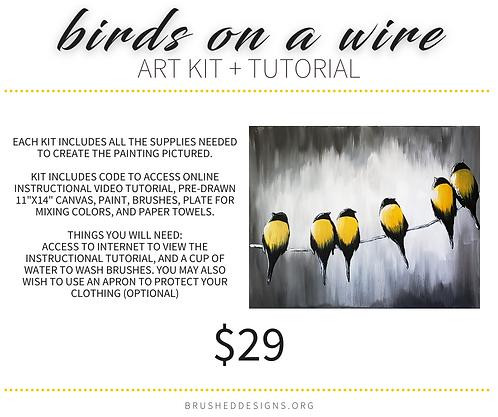 Birds On A Wire Art Kit + Tutorial