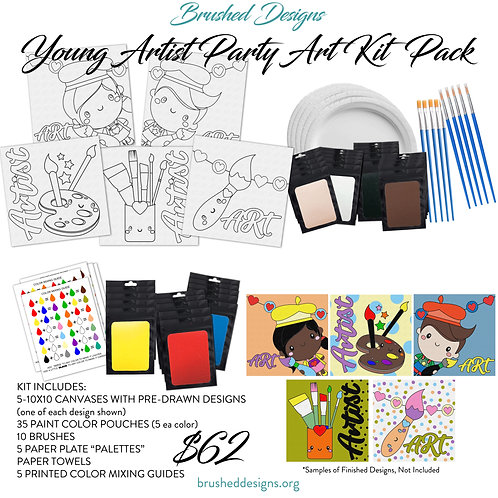 Young Artist Party Art Kit Pack