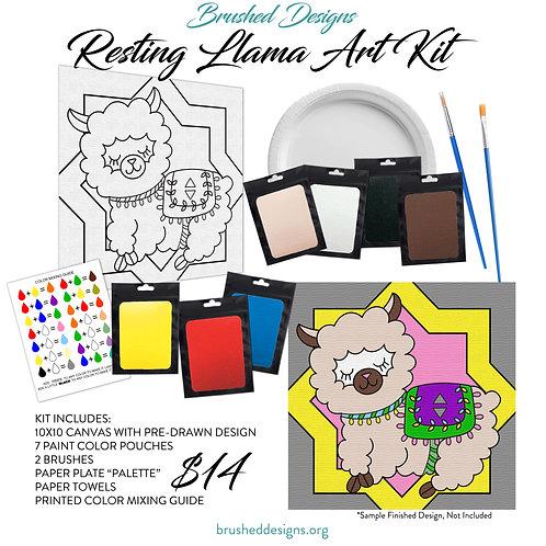 Resting Llama Art Kit