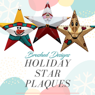 Holiday Star Plaques Trio Ceramic Paint Party