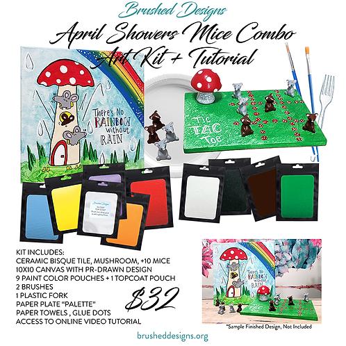 April Showers Mice Combo Art Kit + Tutorial