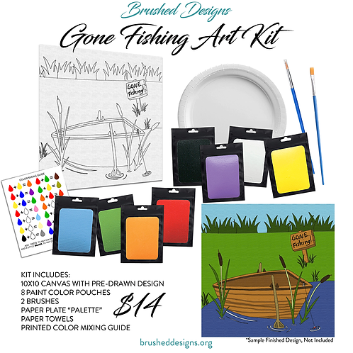 Gone Fishing Art Kit