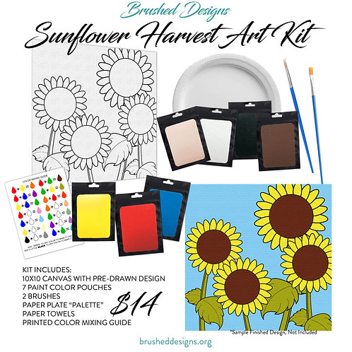 Sunflower Harvest Art Kit