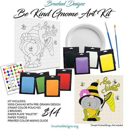 Be Kind Gnome Art Kit