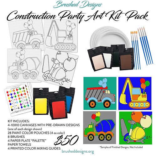 Construction Party Art Kit Pack