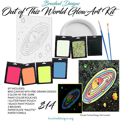 Out Of This World Glow Art Kit