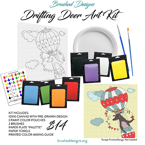Drifting Deer Art Kit