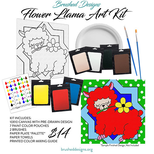 Flower Llama Art Kit