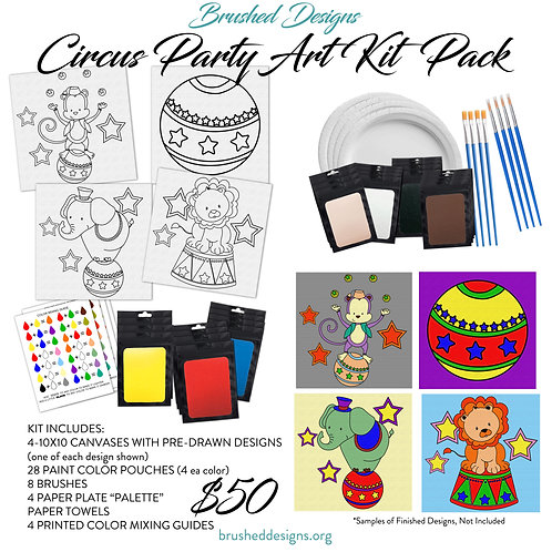 Circus Party Art Kit Pack