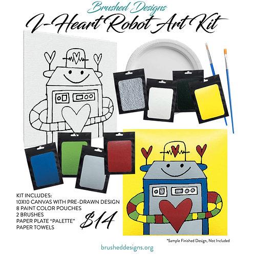 I Heart Robot Art Kit