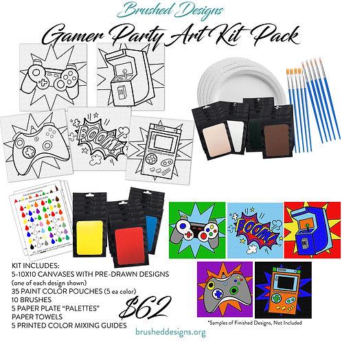 Gamer Party Art Kit Pack
