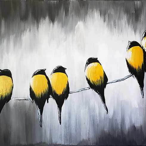 Birds on A Wire Virtual Paint Party