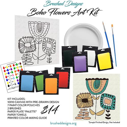 Boho Flowers Art Kit