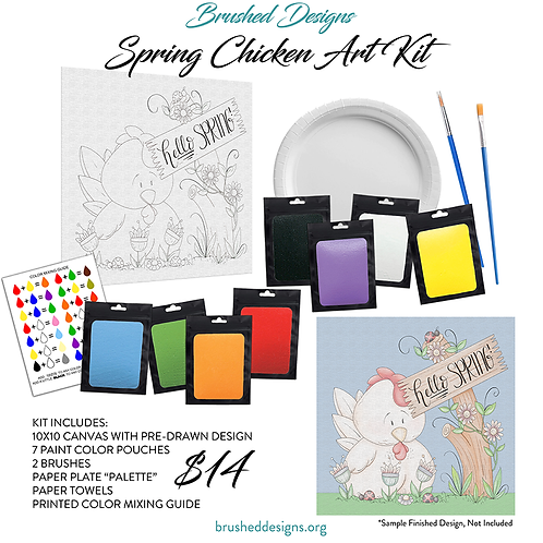 Spring Chicken Art Kit