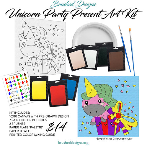 Unicorn Party Present Art Kit