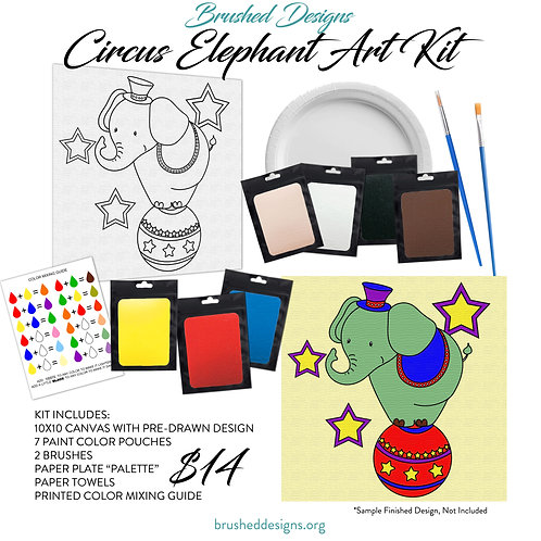 Circus Elephant Art Kit