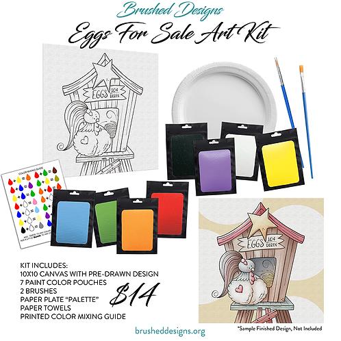 Eggs For Sale Art Kit