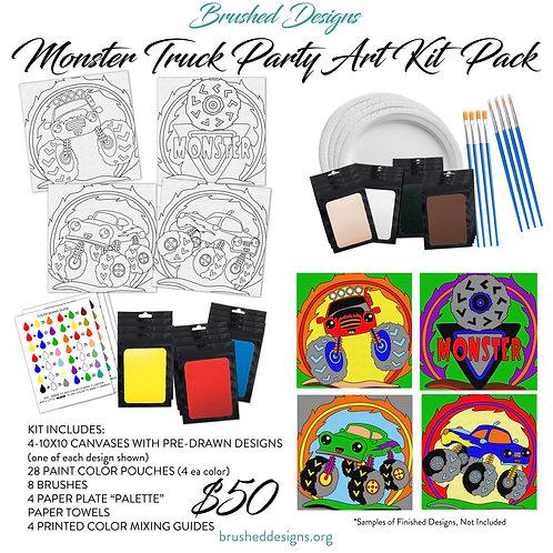Monster Truck Party Art Kit Pack