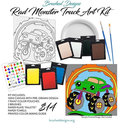 Rad Monster Truck Art Kit