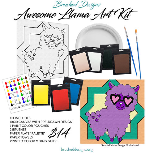 Awesome Llama Art Kit