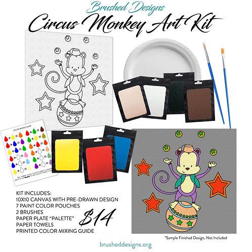 Circus Monkey Art Kit
