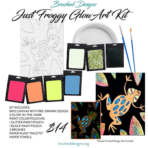 Just Froggy Glow Art Kit