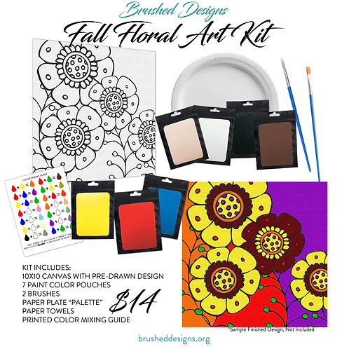 Fall Floral Art Kit