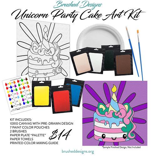 Unicorn Party Cake Art Kit