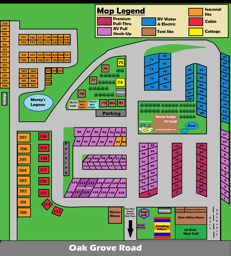Campground Map at Stoney Creek RV Resort
