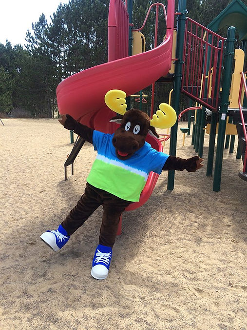 Morey the Moose at the Playground at Stoney Creek RV Resort