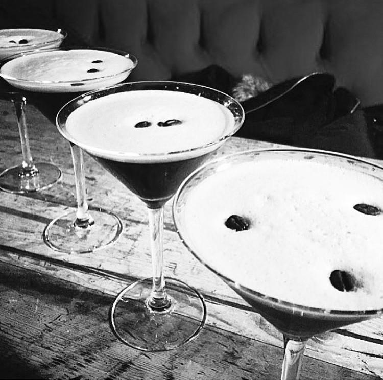 Espresso Martini all round. . .