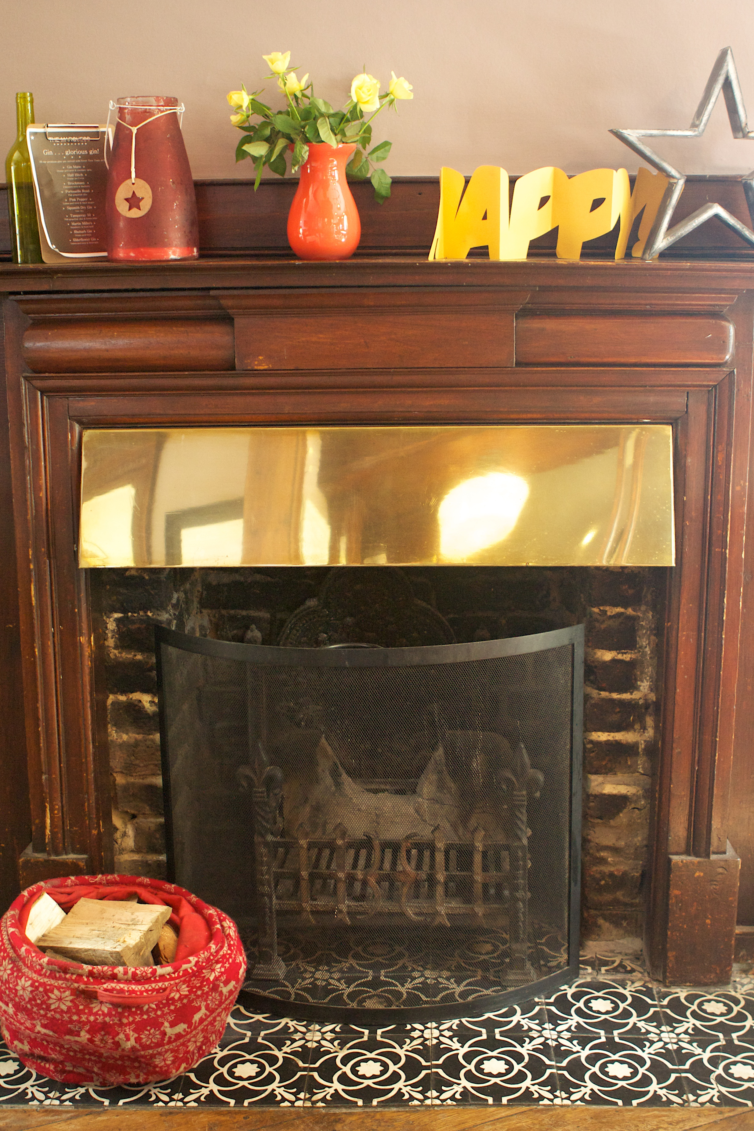 Real wood burning fires. . .
