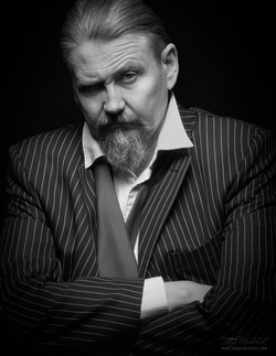 Black & White Character Portrait