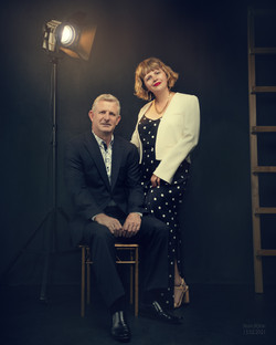 Styled Cinematic Couple Portrait.