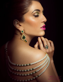 Jewelries on a Model.
