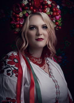Portrait in Traditional Ukrainian Attire