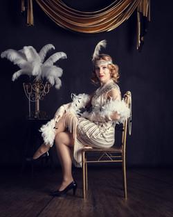 Styled Gatsby Inspired Portrait.