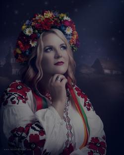 Ukrainian night. Illustrative image.