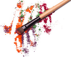 Eyeshadows. Product Texture.