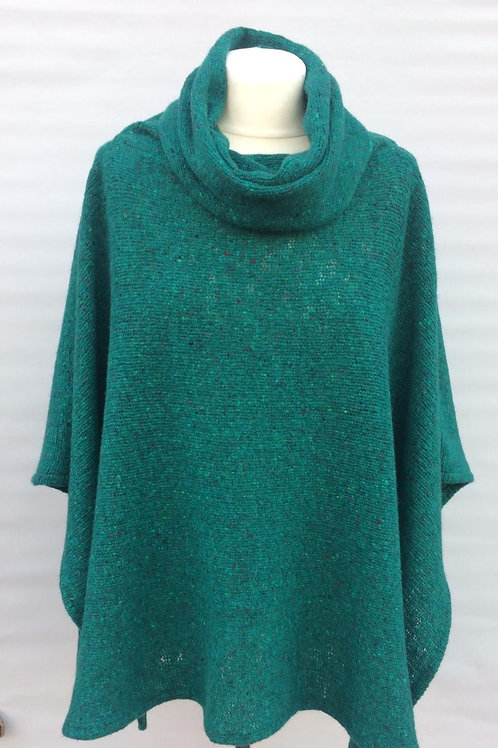 donegal cowl neck poncho