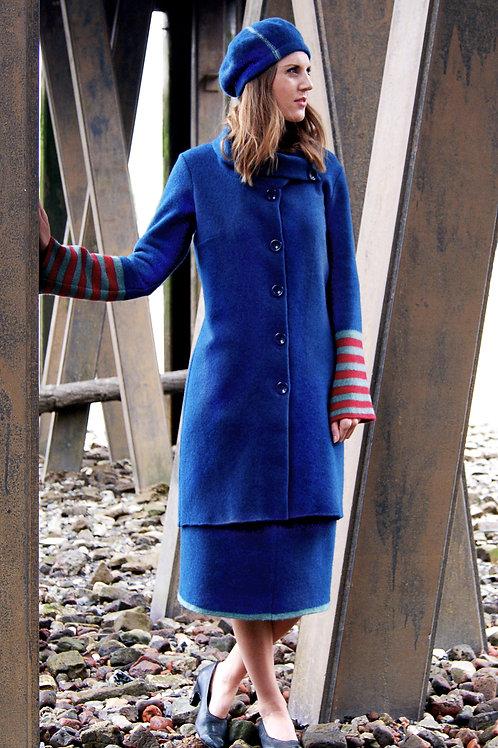 stripe arm coat