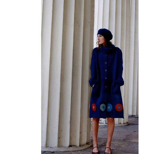 appliquéd dot coat