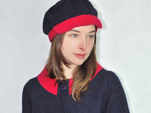 felted lambswool cap