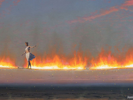 Walking a tightrope of fire without a net.